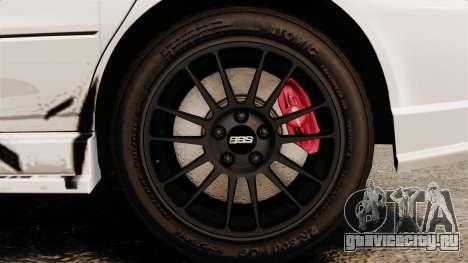 Mitsubishi Lancer Evolution VIII MR CobrazHD для GTA 4 вид сзади