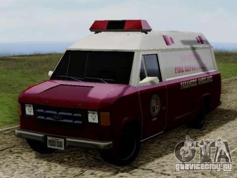 Vapid Ambulance 1986 для GTA San Andreas вид справа