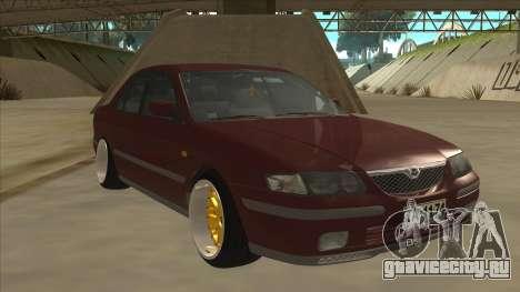 Mazda 626 Hellaflush для GTA San Andreas вид слева