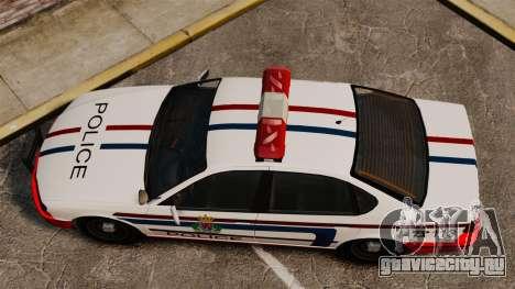 Полиция Люксембурга для GTA 4 вид справа