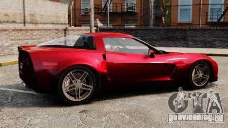 Chevrolet Corvette C6 Z06 V1.1 для GTA 4 вид слева