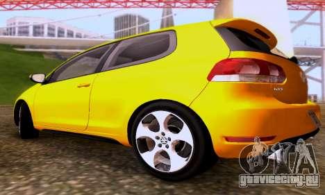 Volkswagen Golf 6 GTI для GTA San Andreas вид сзади