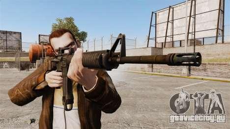 Американская штурмовая винтовка M16A4 для GTA 4 третий скриншот