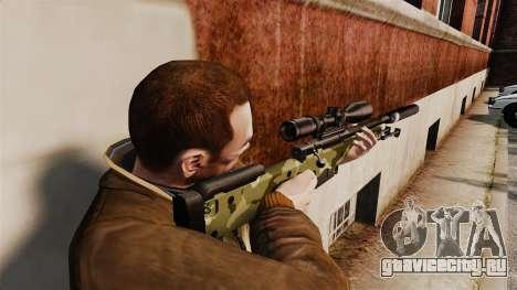 Снайперская винтовка AW L115A1 с глушителем v7 для GTA 4 второй скриншот
