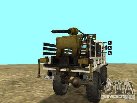 Газ 66 Буровая для GTA San Andreas вид справа