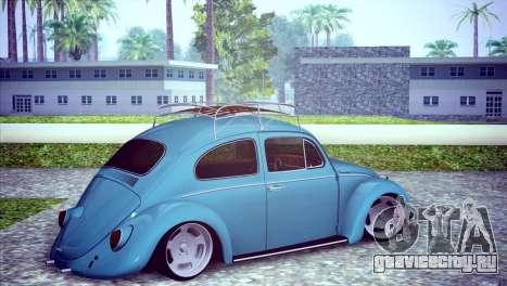 Volkswagen Beetle 1966 для GTA San Andreas вид справа
