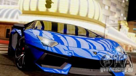 Lamborghini Aventador LP760-2 2013 для GTA San Andreas вид изнутри