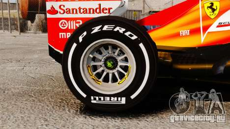 Ferrari F138 2013 v4 для GTA 4 вид сзади