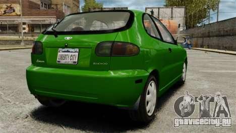 Daewoo Lanos FL 2001 US для GTA 4 вид справа