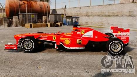 Ferrari F138 2013 v4 для GTA 4 вид слева