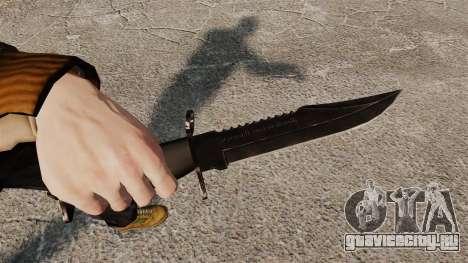 Нож The Alabama Slammer чёрный для GTA 4
