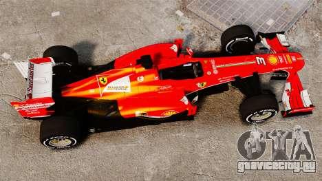 Ferrari F138 2013 v4 для GTA 4 вид справа