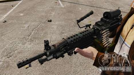 Ручной пулемёт M249 SAW для GTA 4 четвёртый скриншот