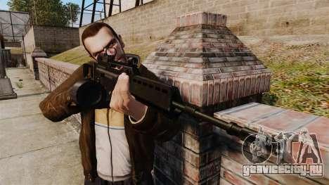 Штурмовая винтовка H&K MG36 v4 для GTA 4 третий скриншот