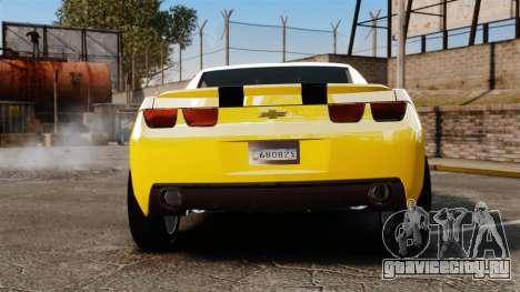 Chevrolet Camaro Bumblebee для GTA 4 вид сзади слева
