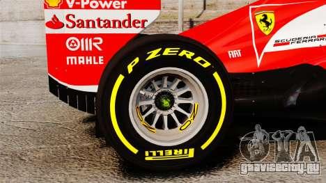 Ferrari F138 2013 v5 для GTA 4 вид сзади