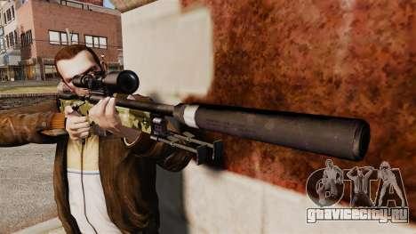 Снайперская винтовка AW L115A1 с глушителем v7 для GTA 4 третий скриншот