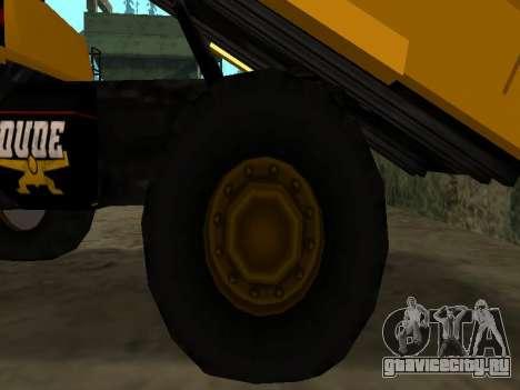 Новый Dumper для GTA San Andreas вид снизу