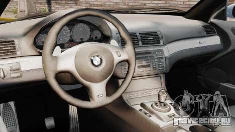 BMW M3 E46 v1.1 для GTA 4 вид изнутри