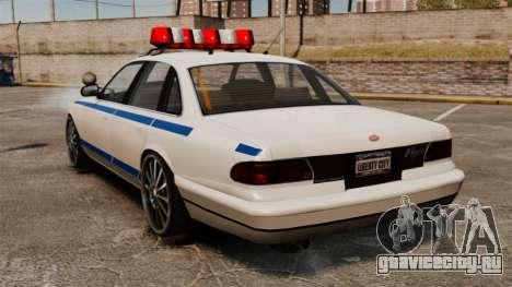 Police на 20-ти  дюймовых дисках для GTA 4 вид сзади слева