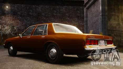 Chevrolet Caprice 1989 для GTA 4 вид изнутри