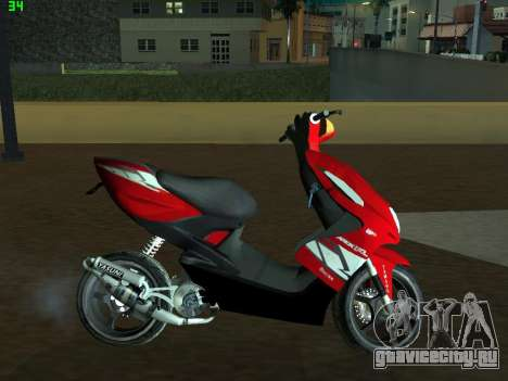 Yamaha Aerox R для GTA San Andreas вид слева