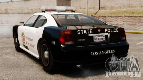Полицейский Buffalo LAPD v2 для GTA 4 вид сзади слева