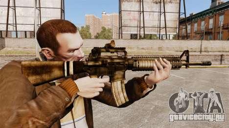 Автоматическая винтовка M16A4 для GTA 4