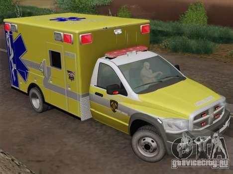 Dodge Ram Ambulance BCFD Paramedic 100 для GTA San Andreas вид сзади