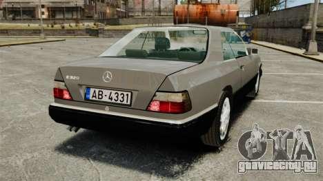 Mercedes-Benz W124 Coupe для GTA 4 вид сзади слева