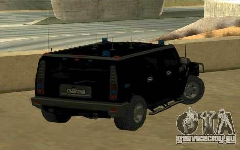 Hummer H2 для GTA San Andreas вид сзади слева