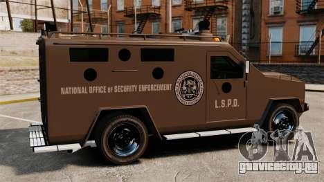 Бронетранспортер Lenco Bearcat LSPD GTA V для GTA 4