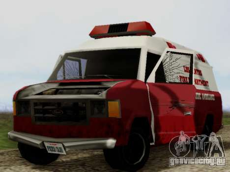 Vapid Ambulance 1986 для GTA San Andreas вид изнутри