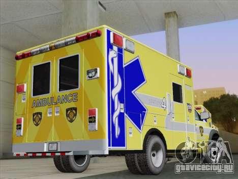 Dodge Ram Ambulance BCFD Paramedic 100 для GTA San Andreas вид справа
