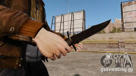 Нож The Alabama Slammer чёрный для GTA 4 второй скриншот
