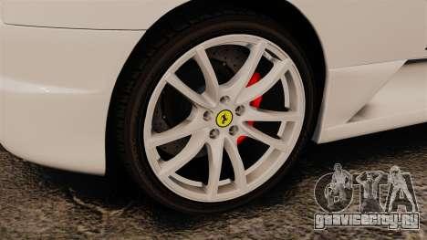 Ferrari F430 Scuderia 2007 Italian для GTA 4 вид сзади
