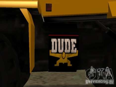 Новый Dumper для GTA San Andreas вид изнутри