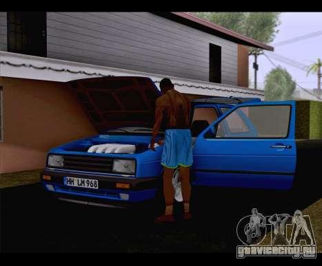 Volkswagen Golf Mk2 для GTA San Andreas вид сзади слева