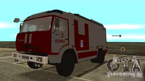 КамАЗ 5245 МЧС для GTA San Andreas