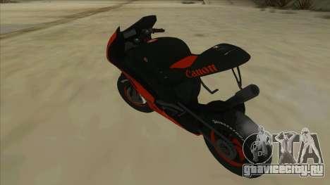RP Motorsport Yamaha M1 для GTA San Andreas вид сзади слева