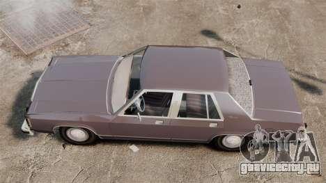 Ford LTD Crown Victoria для GTA 4 вид справа