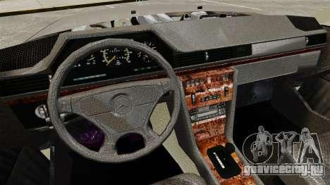 Mercedes-Benz W124 Coupe для GTA 4 вид изнутри
