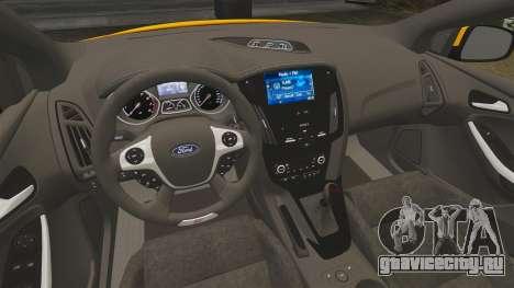Ford Focus ST 2013 для GTA 4 вид изнутри