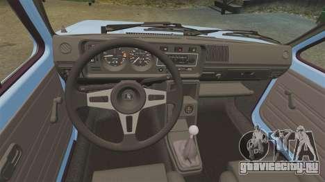 Volkswagen Golf MK1 GTI ToneBee EDITED для GTA 4 вид сзади