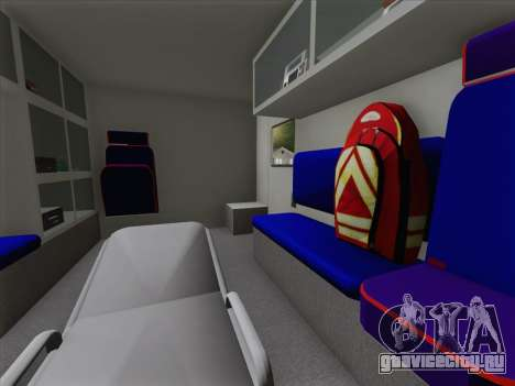 Dodge Ram Ambulance BCFD Paramedic 100 для GTA San Andreas двигатель