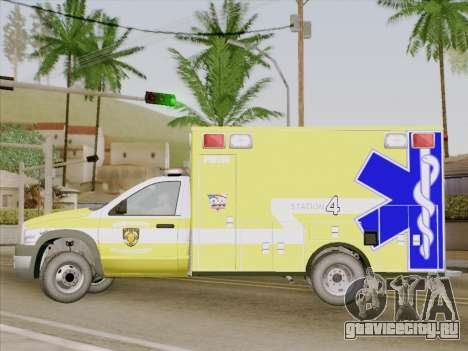 Dodge Ram Ambulance BCFD Paramedic 100 для GTA San Andreas вид изнутри