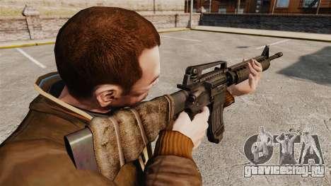 Американская штурмовая винтовка M16A4 для GTA 4 второй скриншот