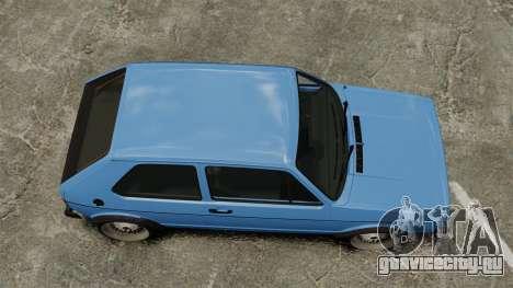 Volkswagen Golf MK1 GTI ToneBee EDITED для GTA 4 вид справа