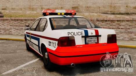 Полиция Люксембурга для GTA 4 вид сзади слева