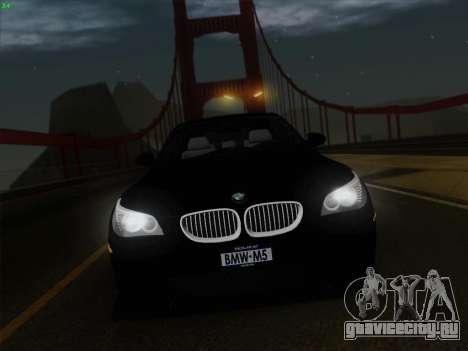 BMW M5 Hamann для GTA San Andreas салон